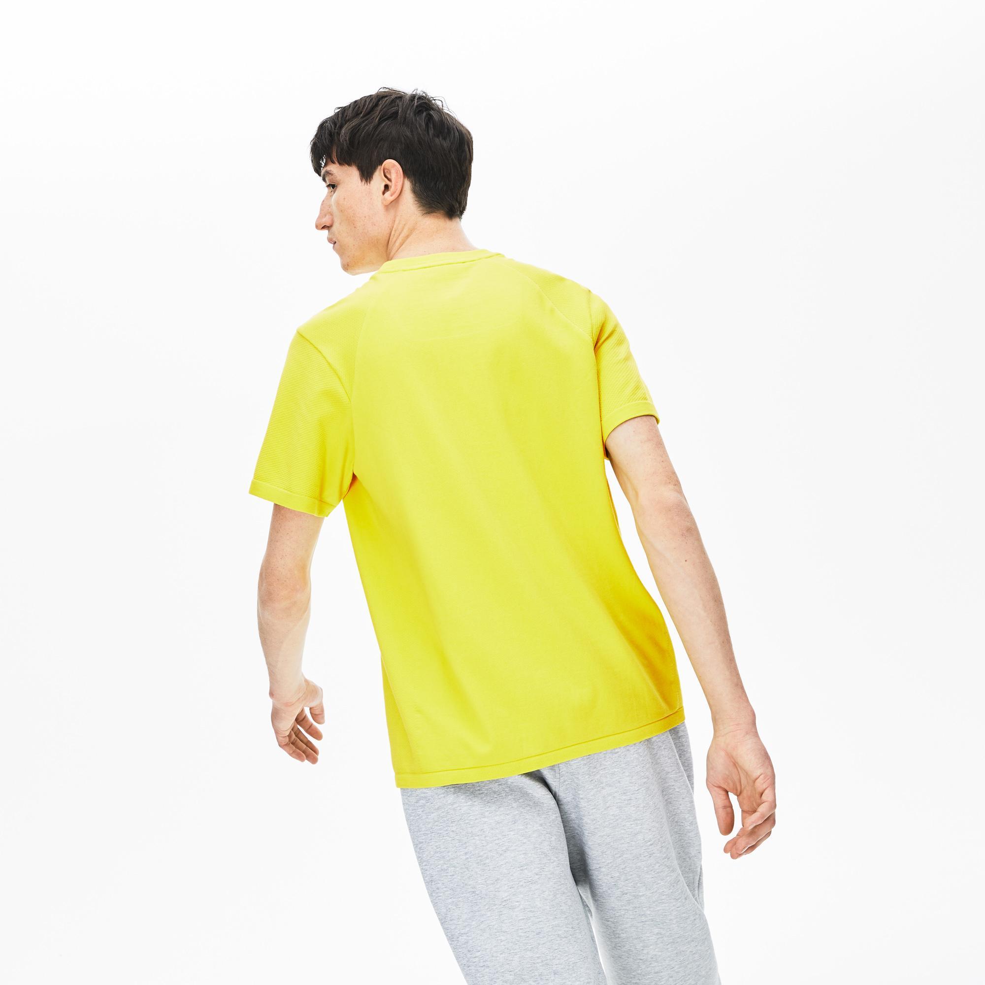 Lacoste Motion Erkek Slim Fit Sarı T-Shirt