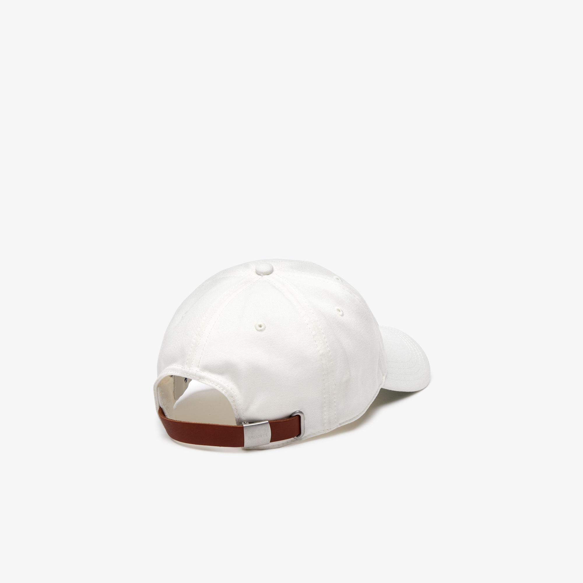Lacoste L!VE Unisex Baskılı Beyaz Şapka