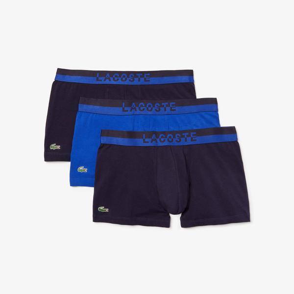 Lacoste Erkek 3'lü Lacivert - Mavi Boxer