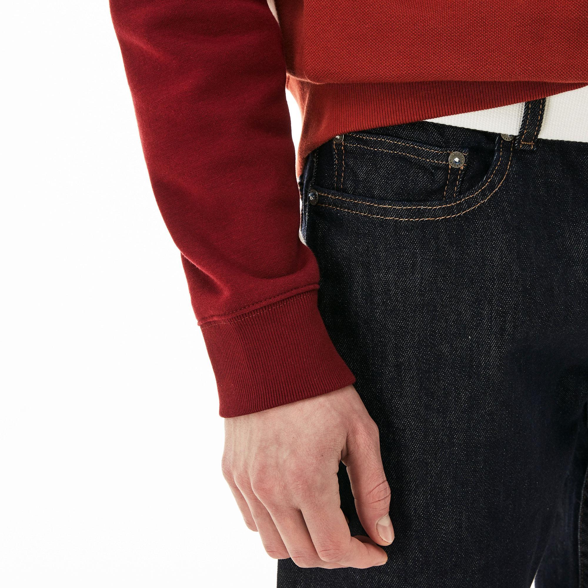 Lacoste Erkek Slim Fit Denim Siyah Pantolon
