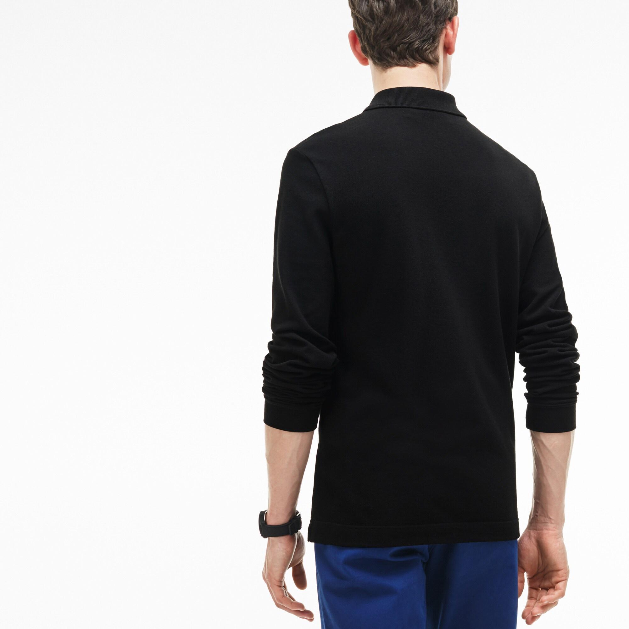 Lacoste Erkek Slim Fit Uzun Kollu Siyah Polo