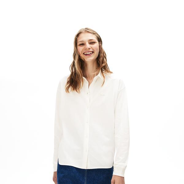 Lacoste Motion Relax Fit Kadın Beyaz Gömlek
