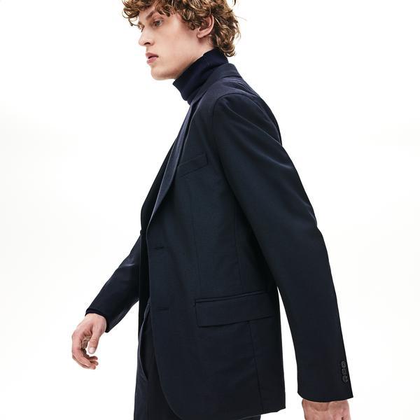 Lacoste Erkek Regular Fit Uzun Kollu Lacivert Ceket