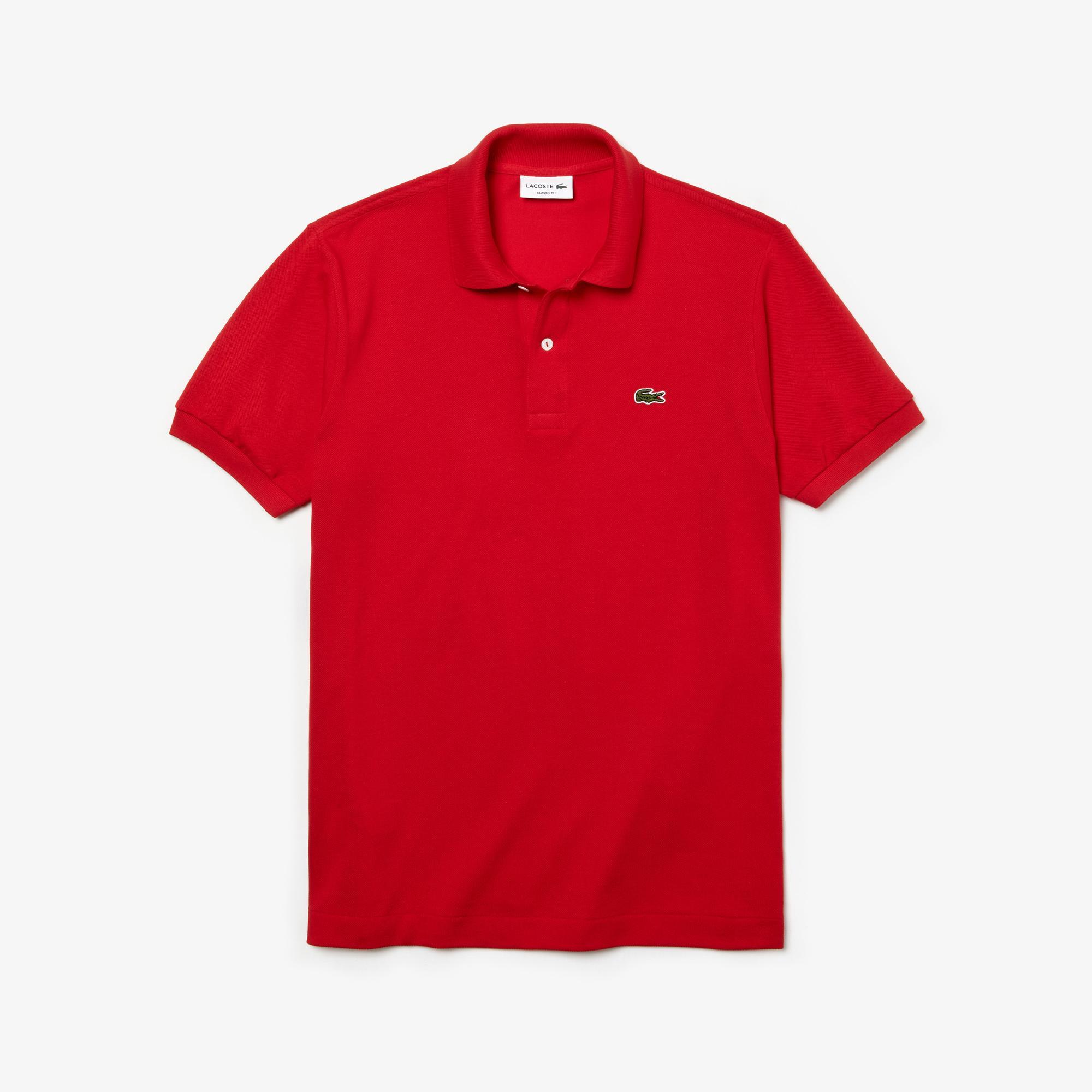 Lacoste Erkek Klasik Fit L1212 Kırmızı Polo