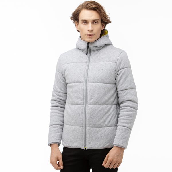Lacoste Motion Erkek Kapüşonlu Çift Taraflı Renkli Sweatshirt / Mont