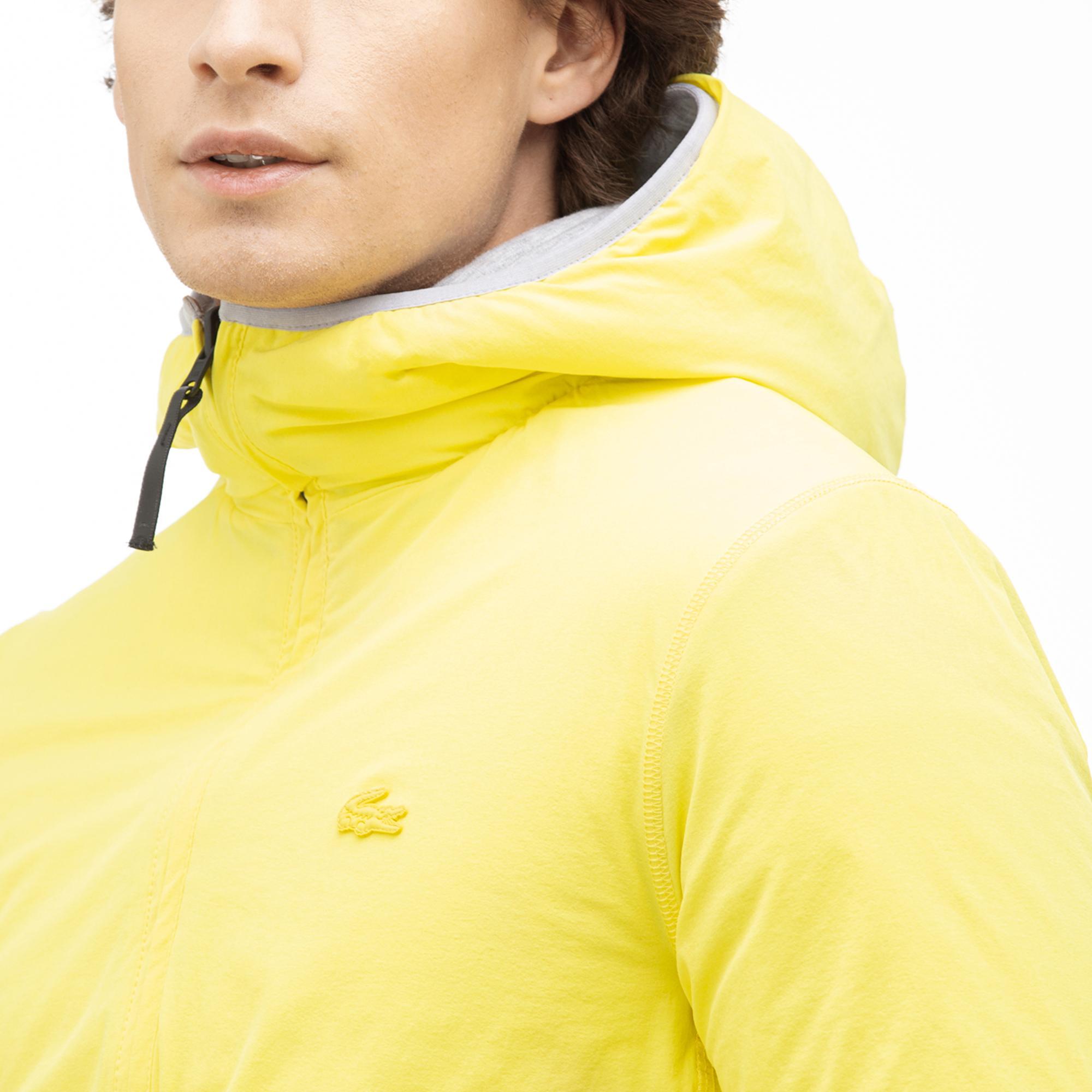 Lacoste Motion Erkek Kapüşonlu Çift Taraflı Mont / Sweatshirt