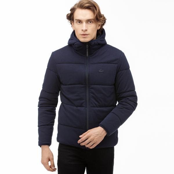 Lacoste Motion Erkek Kapüşonlu Çift Taraflı Lacivert Sweatshirt / Mont