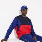 Lacoste Erkek Blok Desenli Bisiklet Yaka Renkli Sweatshirt
