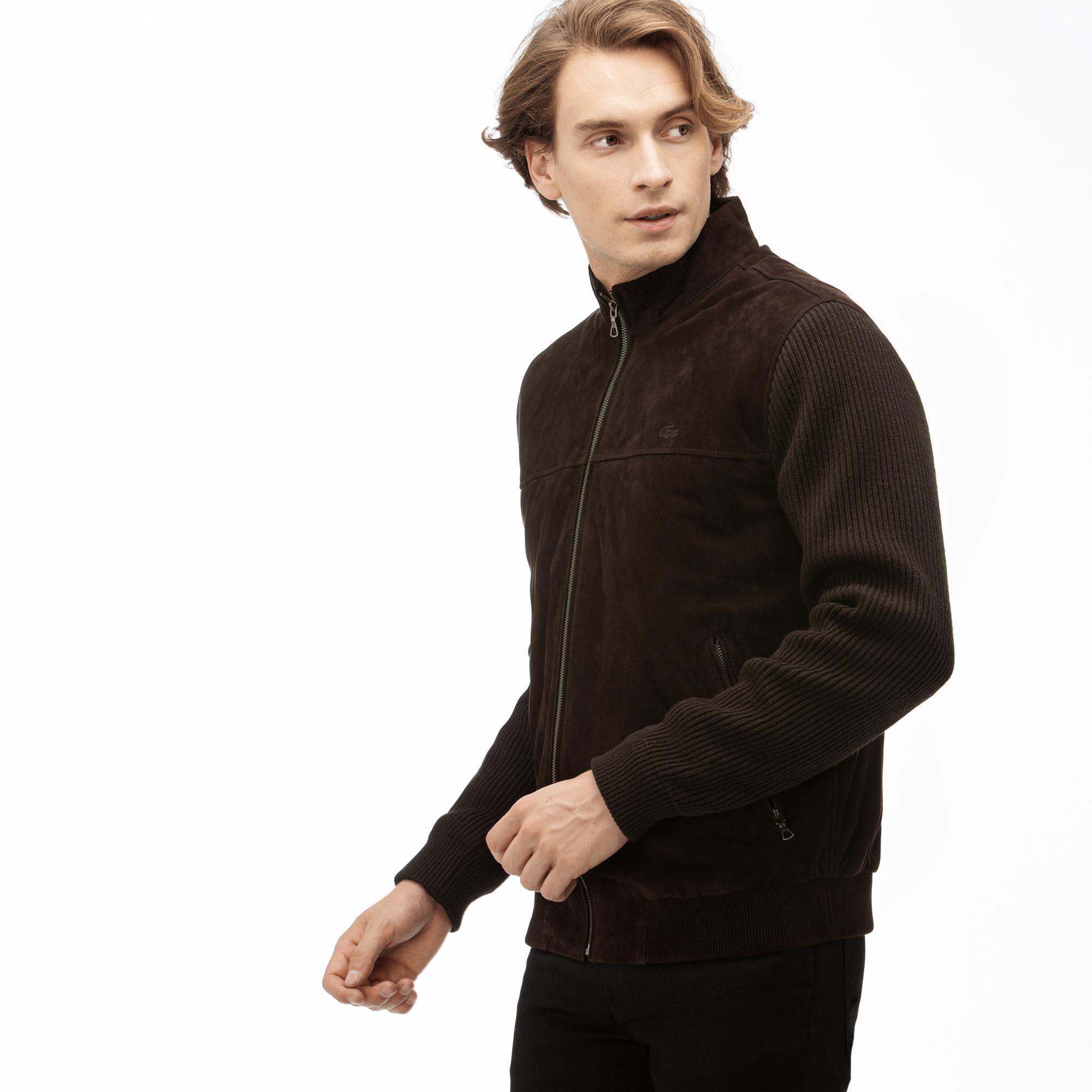 Lacoste Erkek Kahverengi Deri Ceket