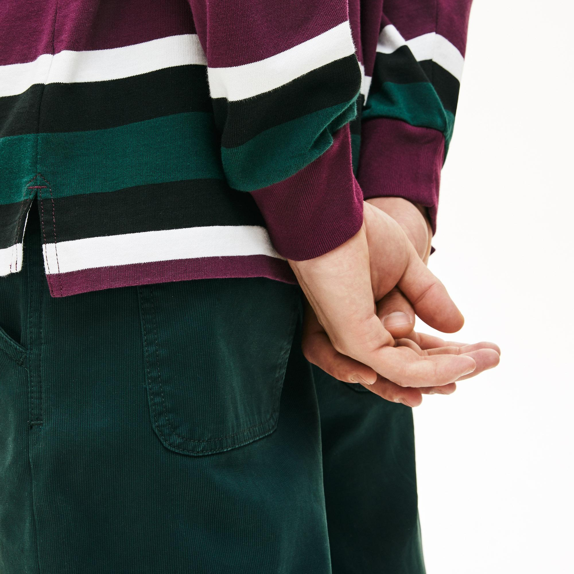 Lacoste Erkek Kutu Timsah Baskılı Renkli Rugby