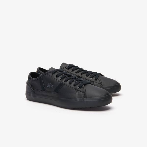 Lacoste Sideline 419 1 Cma Erkek Siyah Casual Ayakkabı
