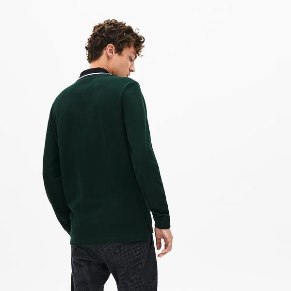 Lacoste Erkek Regular Fit Uzun Kollu Yeşil Polo