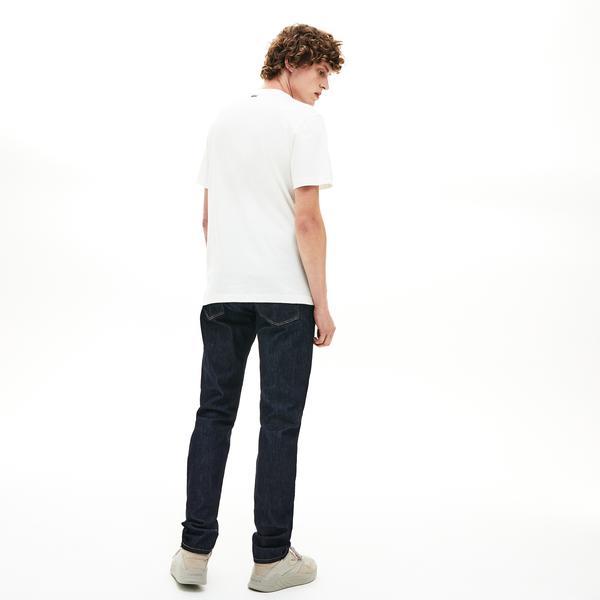 Lacoste Erkek Regular Fit Timsah Baskılı Bej T-Shirt