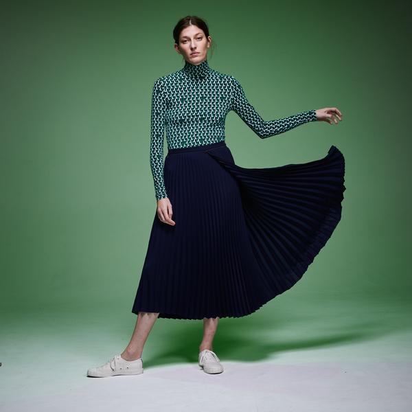 Lacoste Fashion Show Kadın Asimetrik Kesimli Lacivert Etek