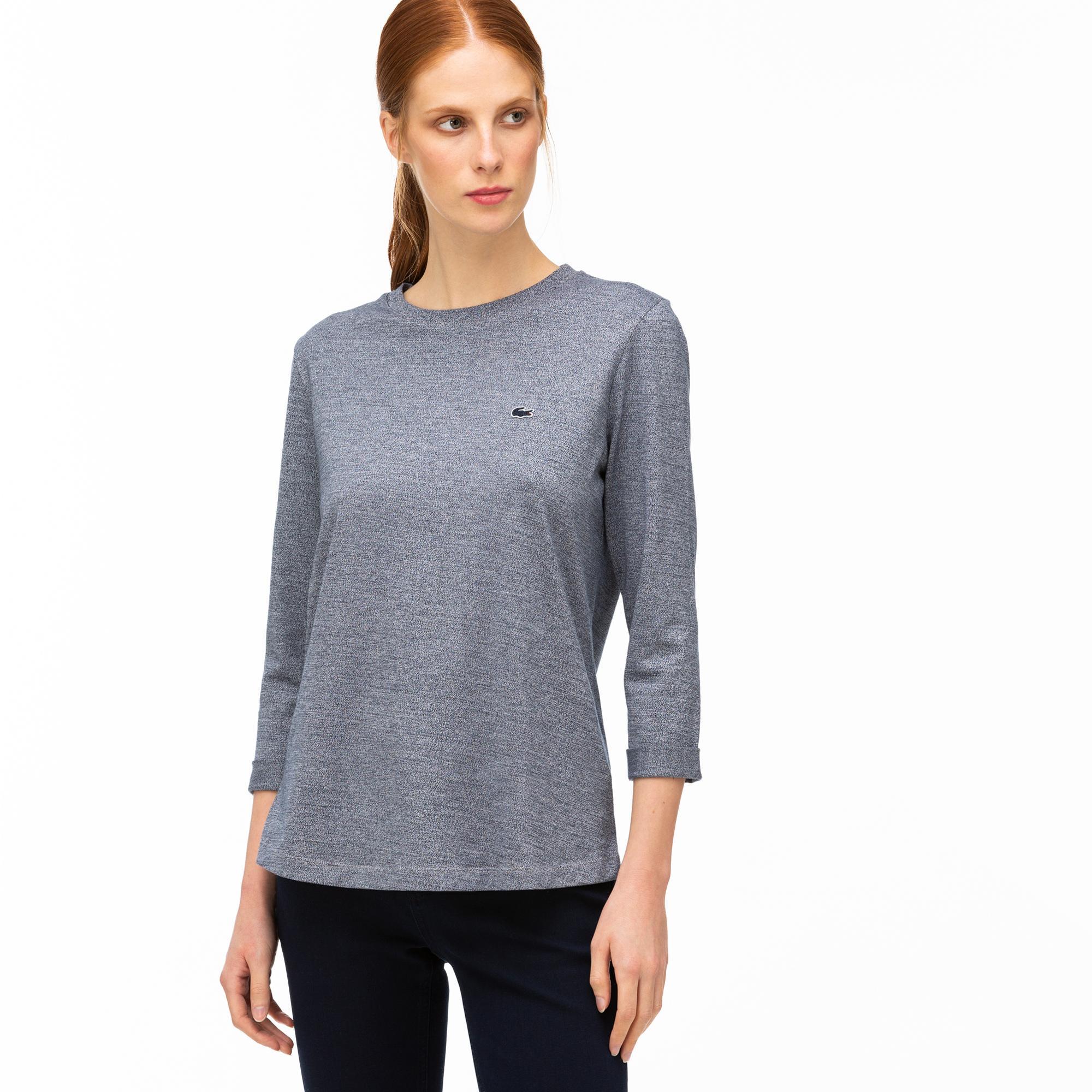 Lacoste Kadın Gri Truvakar Kollu T-Shirt