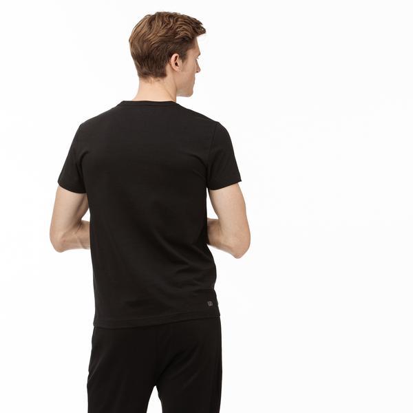 Lacoste Sport Erkek Siyah Baskılı T-Shirt
