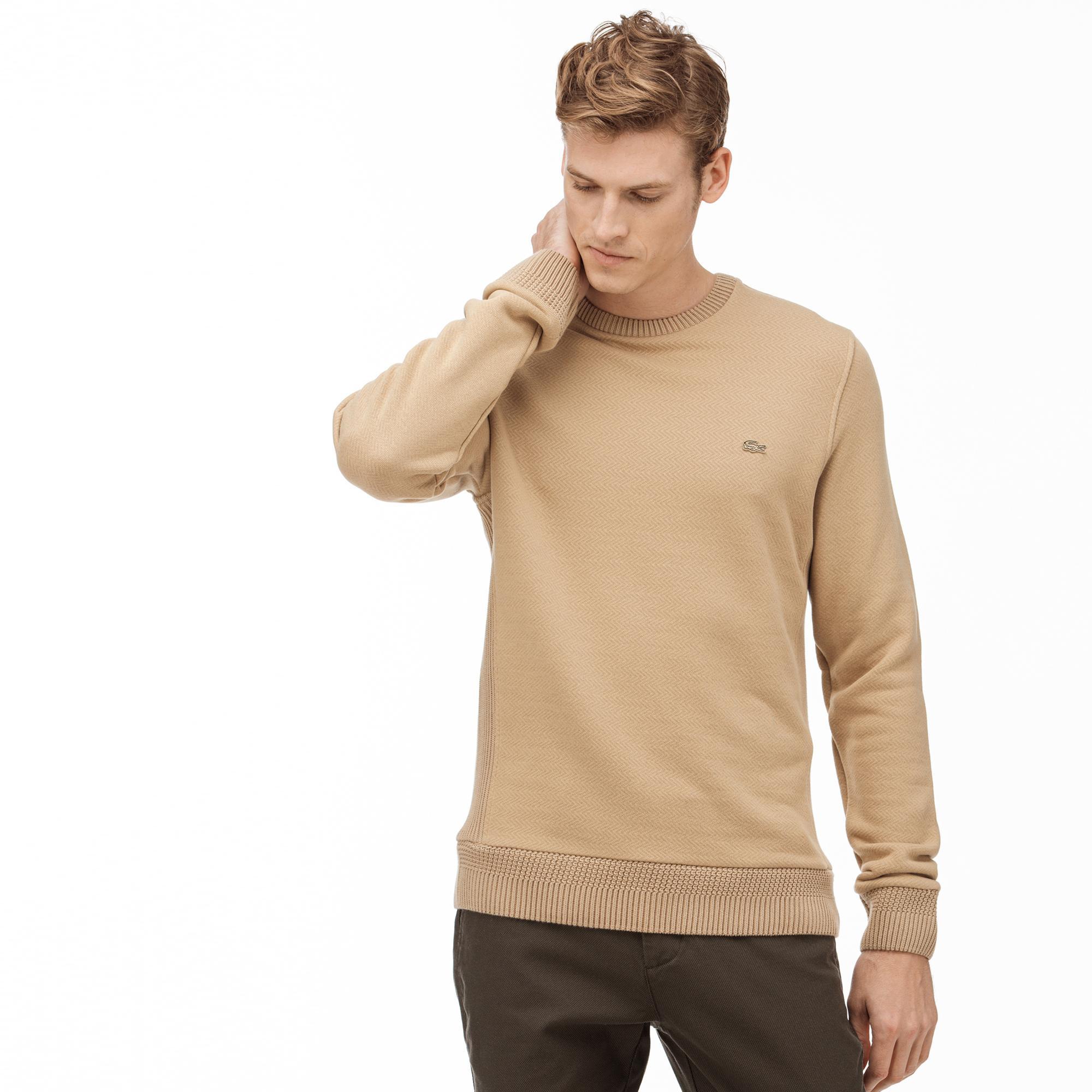 Lacoste Erkek Bej Sweatshirt