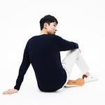 Lacoste Erkek Lacivert Klasik Fit V Yaka Triko Kazak