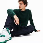 Lacoste Erkek Yeşil Klasik Fit Kaşmir Karışımlı Triko Kazak
