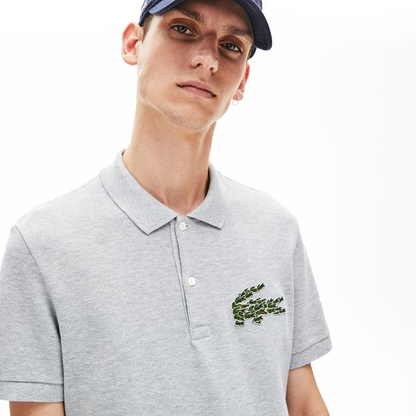 Lacoste Croco Magic Erkek Regular Fit Gri Polo