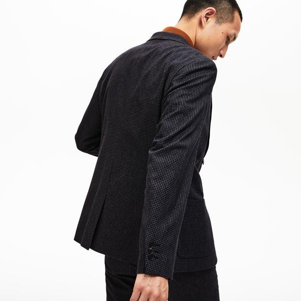 Lacoste Erkek Slim Fit Ekose Uzun Kollu Siyah Blazer Ceket