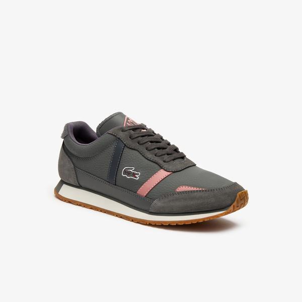 Lacoste Partner 319 1 Sfa Kadın Gri - Pembe Sneaker