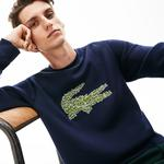 Lacoste Erkek Croco Magic Desenli Bisiklet Yaka Lacivert Sweatshirt