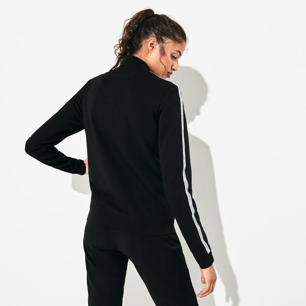 Lacoste Sport Kadın Dik Yaka Siyah Sweatshirt