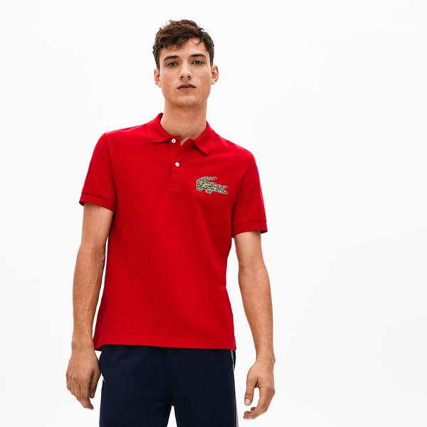 Lacoste Croco Magic Erkek Regular Fit Kırmızı Polo