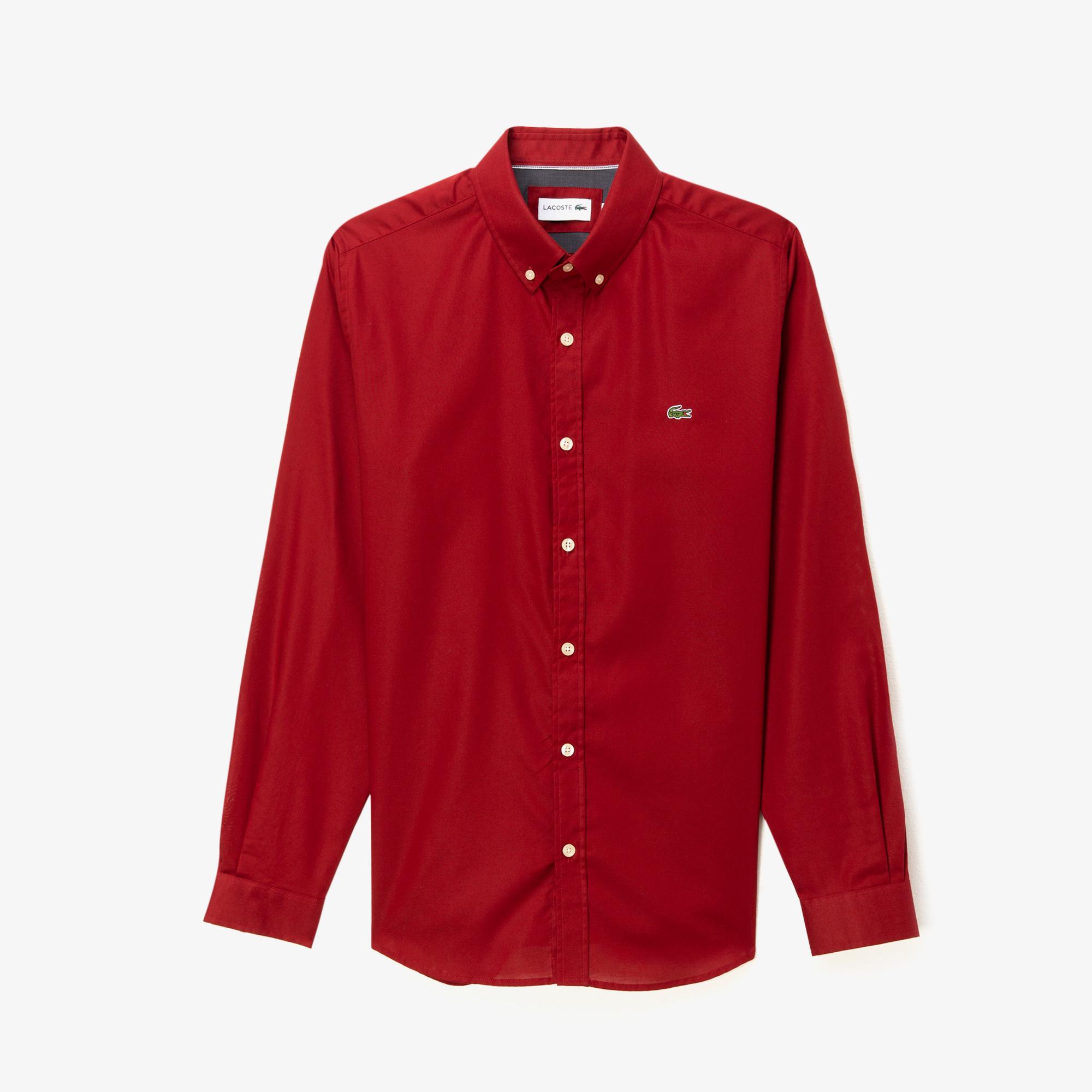 Lacoste Erkek Slim Fit Kırmızı Gömlek