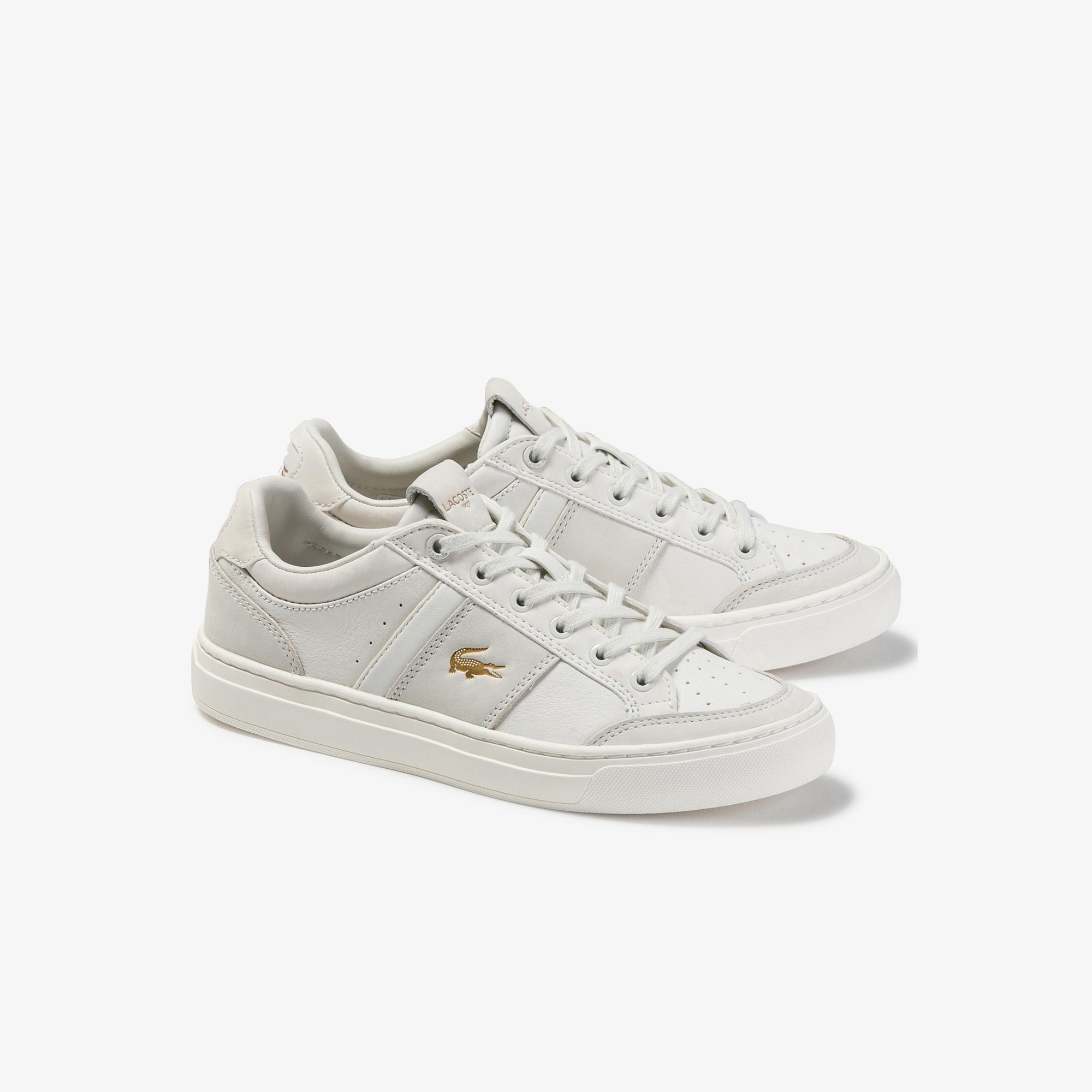 Lacoste Courtline 120 1 Us Cfa Kadın Beyaz Deri Casual Ayakkabı