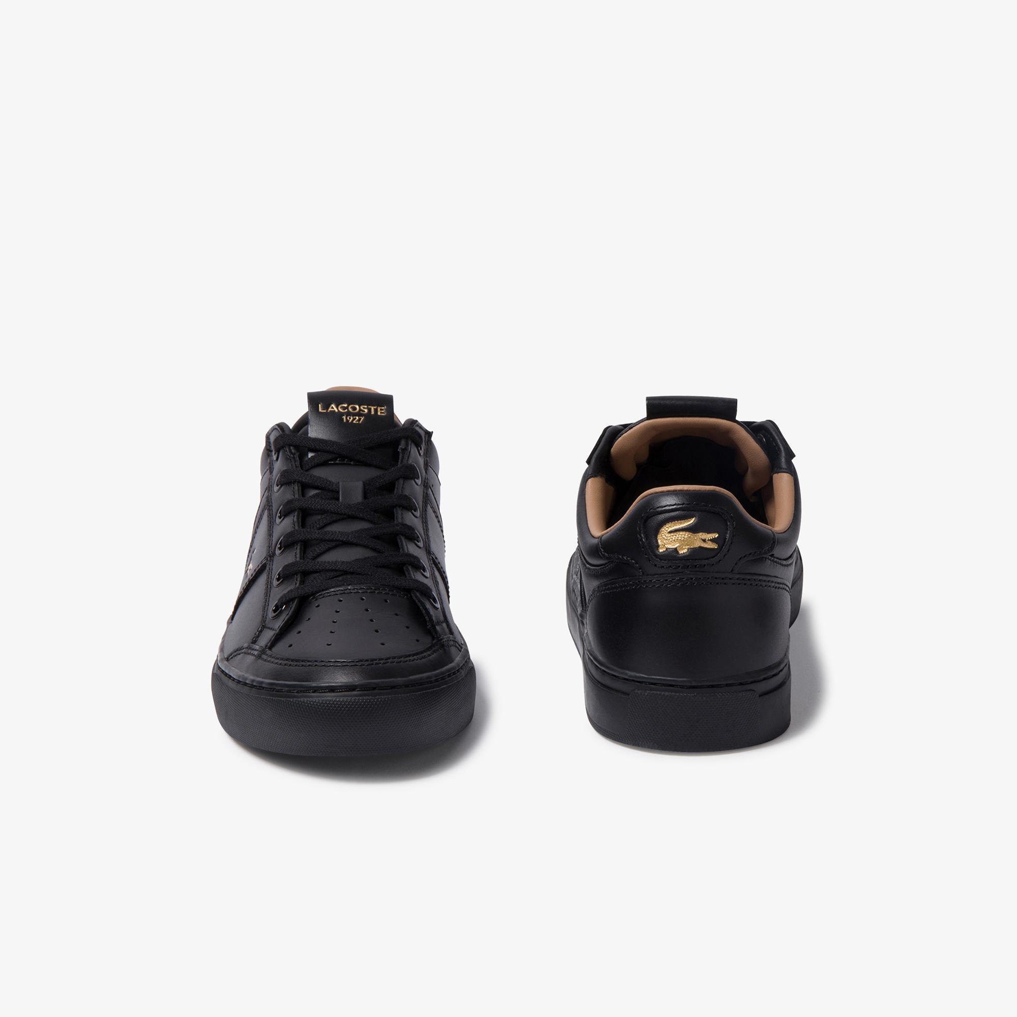 Lacoste Courtline 120 1 Us Cma Erkek Siyah Deri Casual Ayakkabı