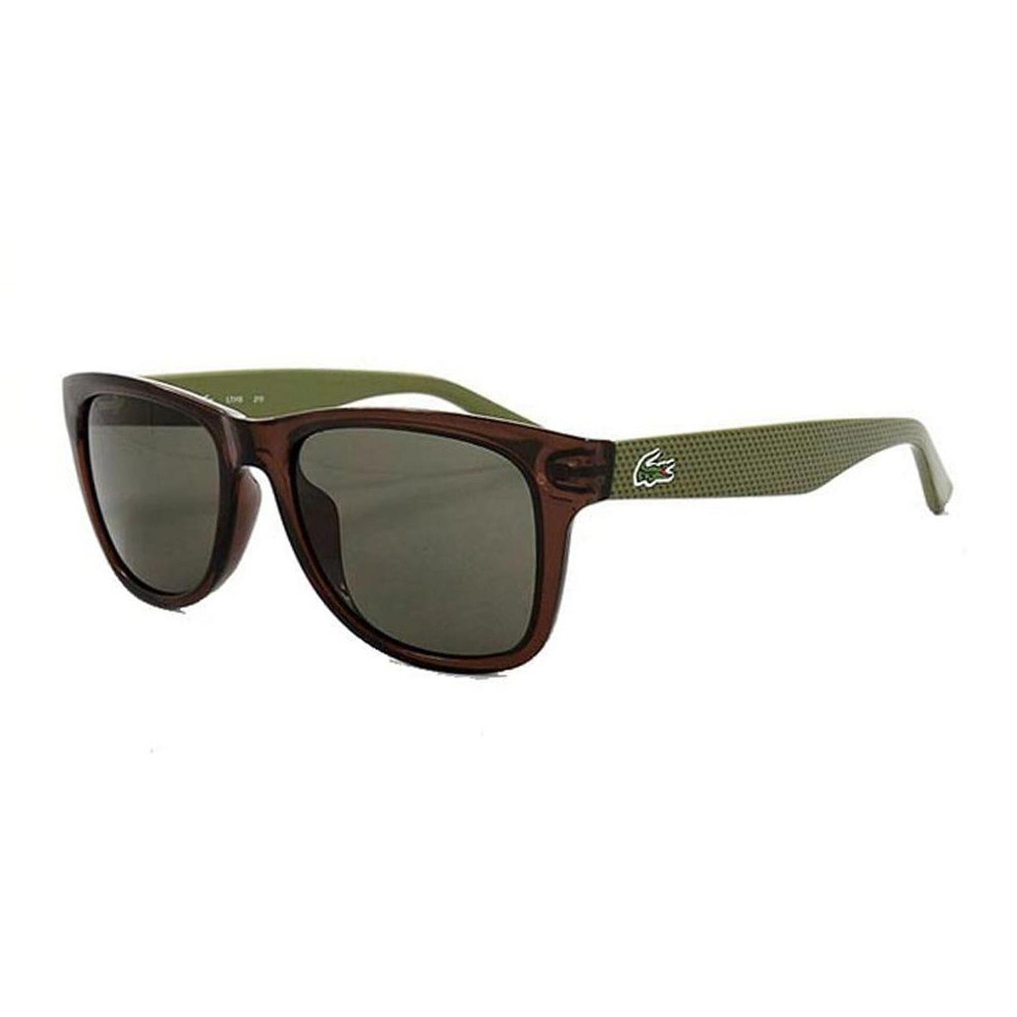 Lacoste Unisex Kahverengi - Yeşil Güneş Gözlüğü