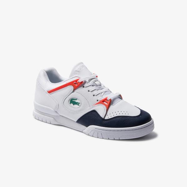 Lacoste Courtpoint 120 1 Sma Erkek Beyaz - Lacivert Deri Sneaker