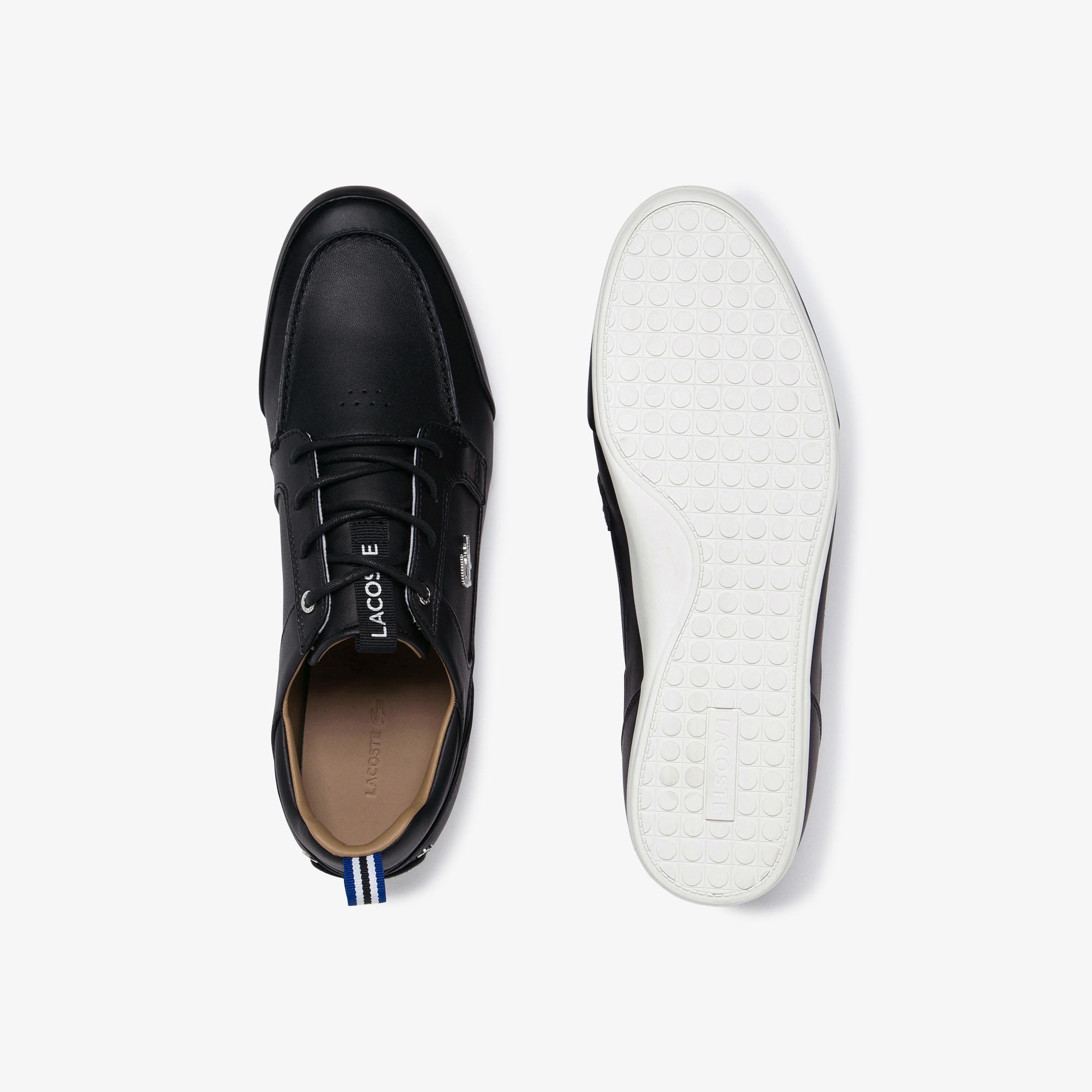 Lacoste Marina 120 1 Us Cma Erkek Siyah  Deri Casual Ayakkabı