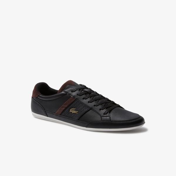 Lacoste Chaymon 120 4 Cma Erkek Siyah - Koyu Kahverengi Deri Casual Ayakkabı