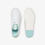 Lacoste Carnaby Evo Light-Wt 1201 Kadın Beyaz - Açık Yeşil Deri Sneaker
