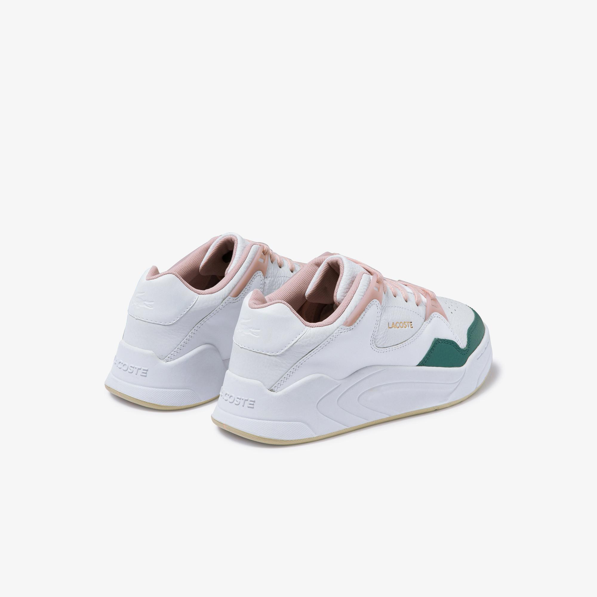 Lacoste Court Slam 120 2 Sfa Kadın Beyaz - Pudra Deri Sneaker