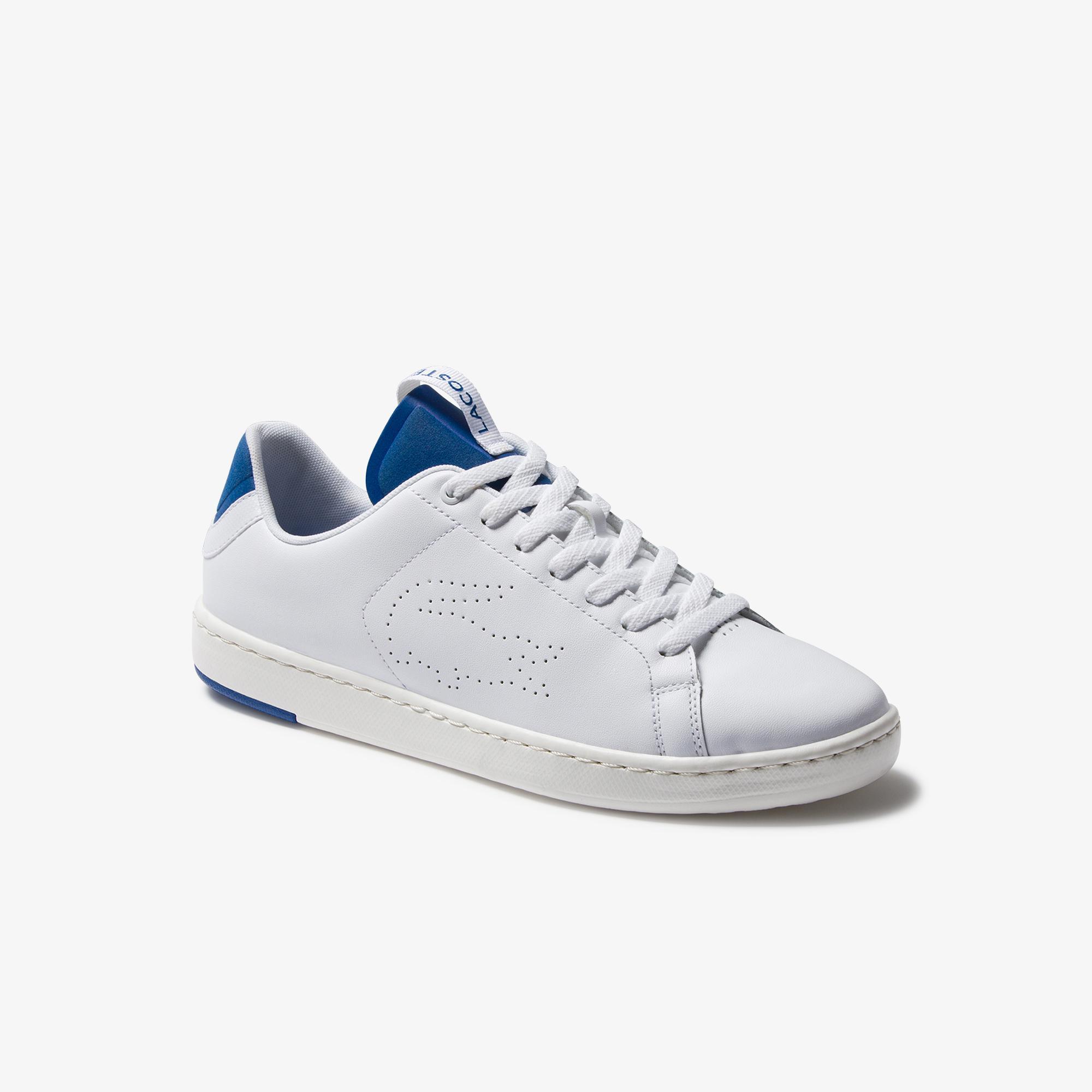 Lacoste Carnaby Evo Light-Wt 1201Sma Erkek Beyaz - Mavi Deri Sneaker