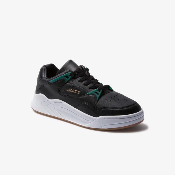 Lacoste Court Slam 120 3 Sma Erkek Siyah - Yeşil Deri Sneaker