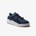 Lacoste Court Slam 120 3 Sma Erkek Lacivert - Açık Mavi Deri Sneaker