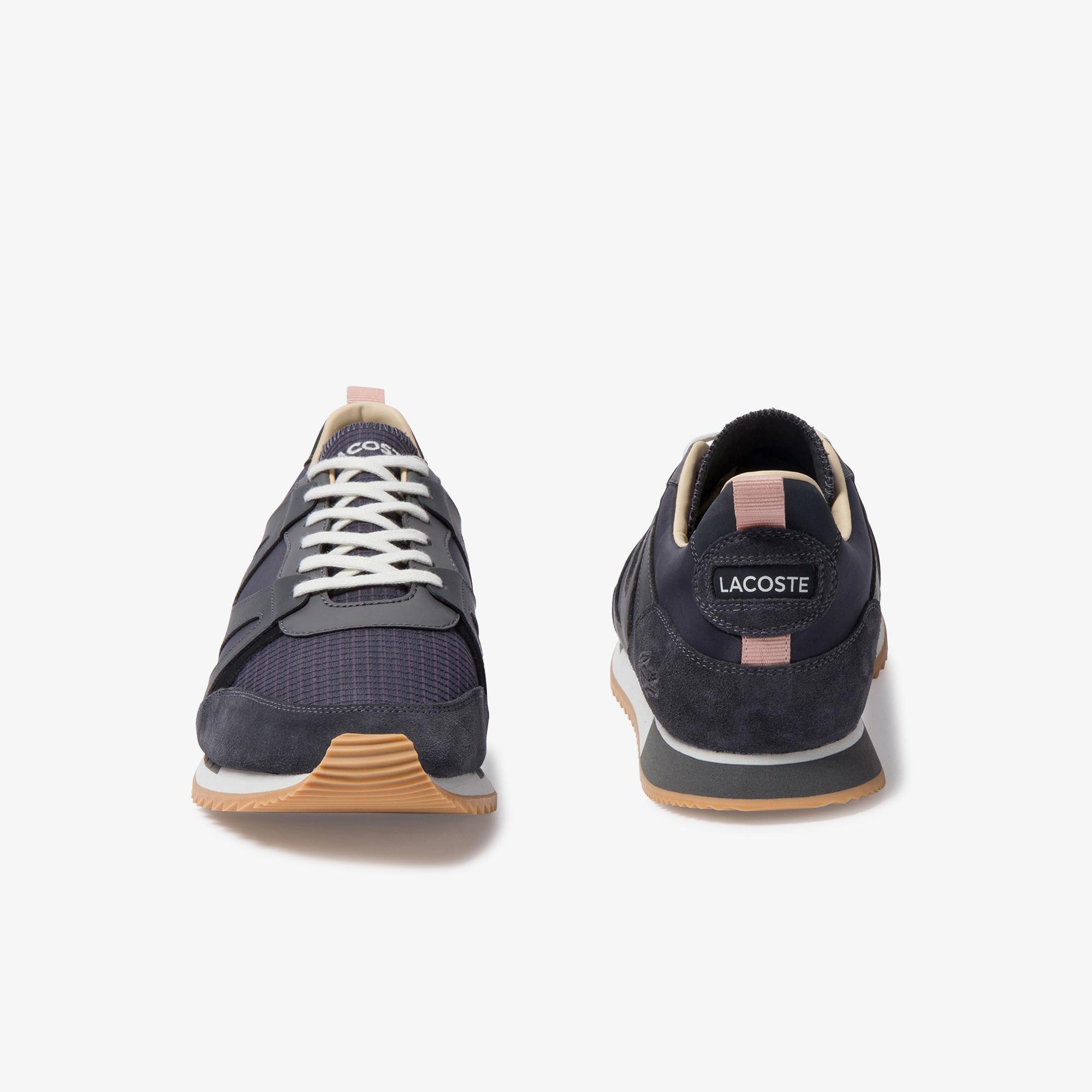 Lacoste Aesthet 120 3 Sma Erkek Koyu Gri - Siyah Deri Sneaker