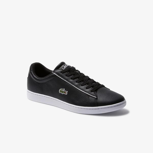 Lacoste Carnaby Evo 120 2 Sma Erkek Siyah - Beyaz Deri Sneaker