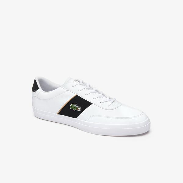 Lacoste Court-Master 319 6 Cma Erkek Beyaz - Siyah Deri Casual Ayakkabı