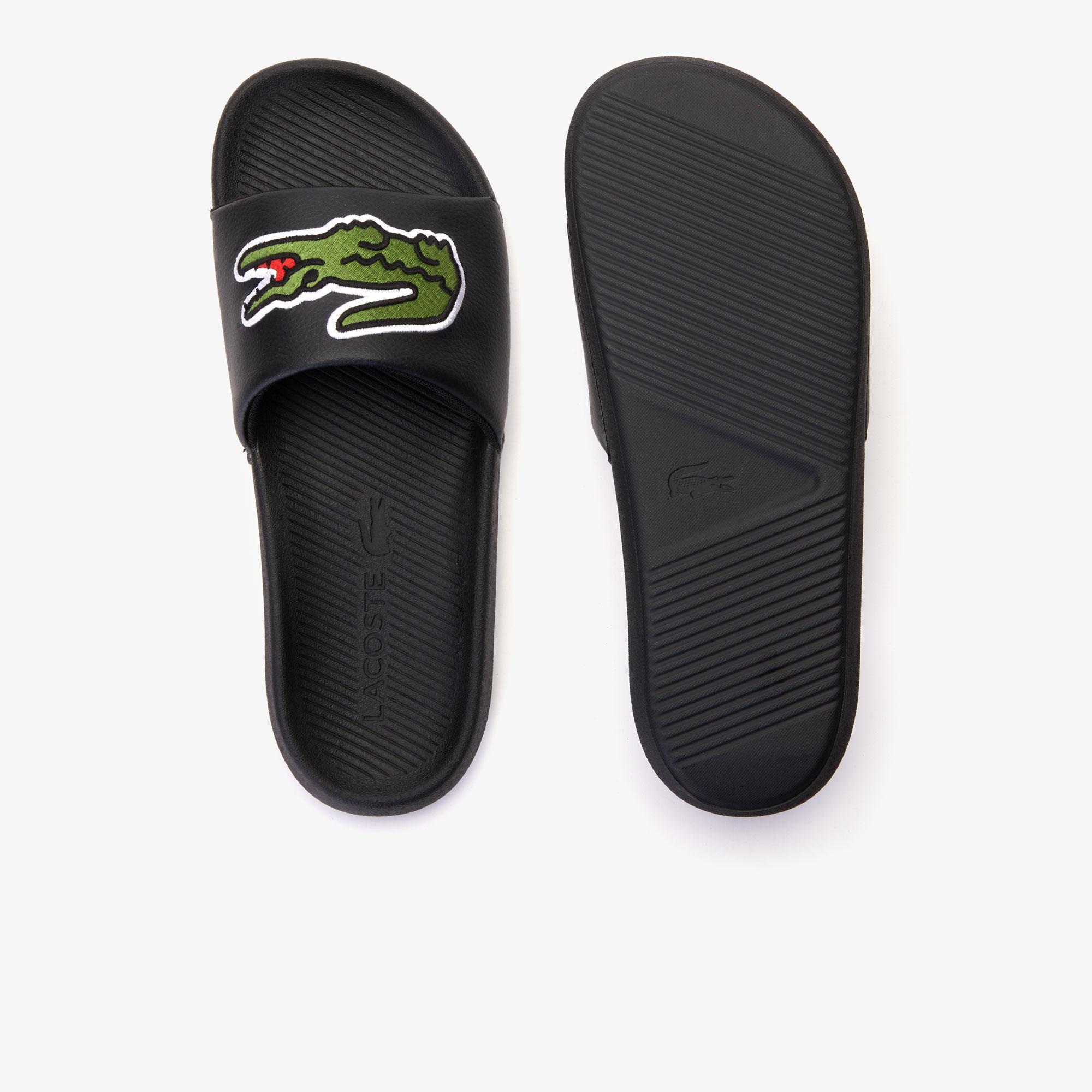 Lacoste Croco Slide 319 4 Us Cma Erkek Siyah - Yeşil Terlik