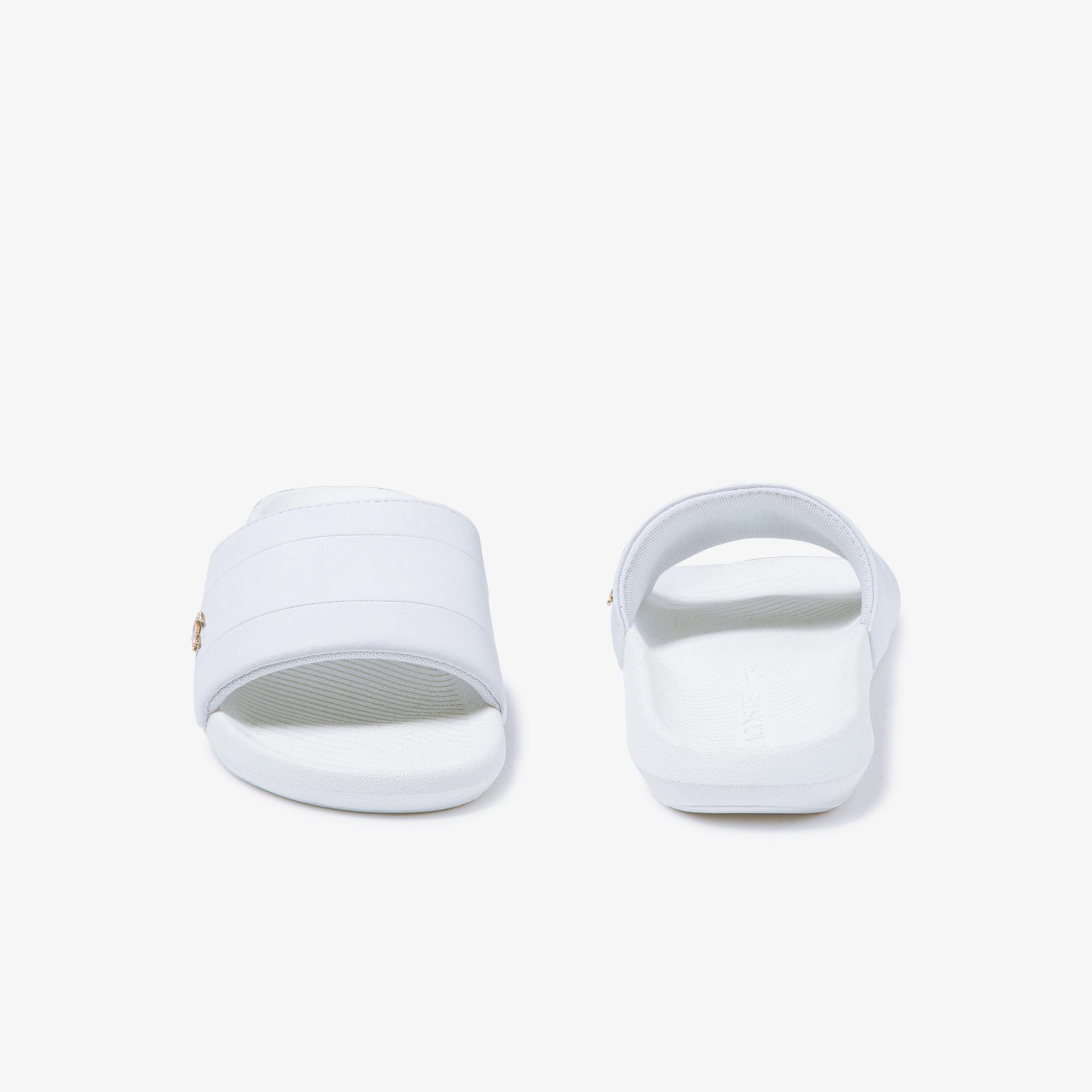 Lacoste Croco Slide 120 3 Us Cfa Kadın Beyaz Terlik