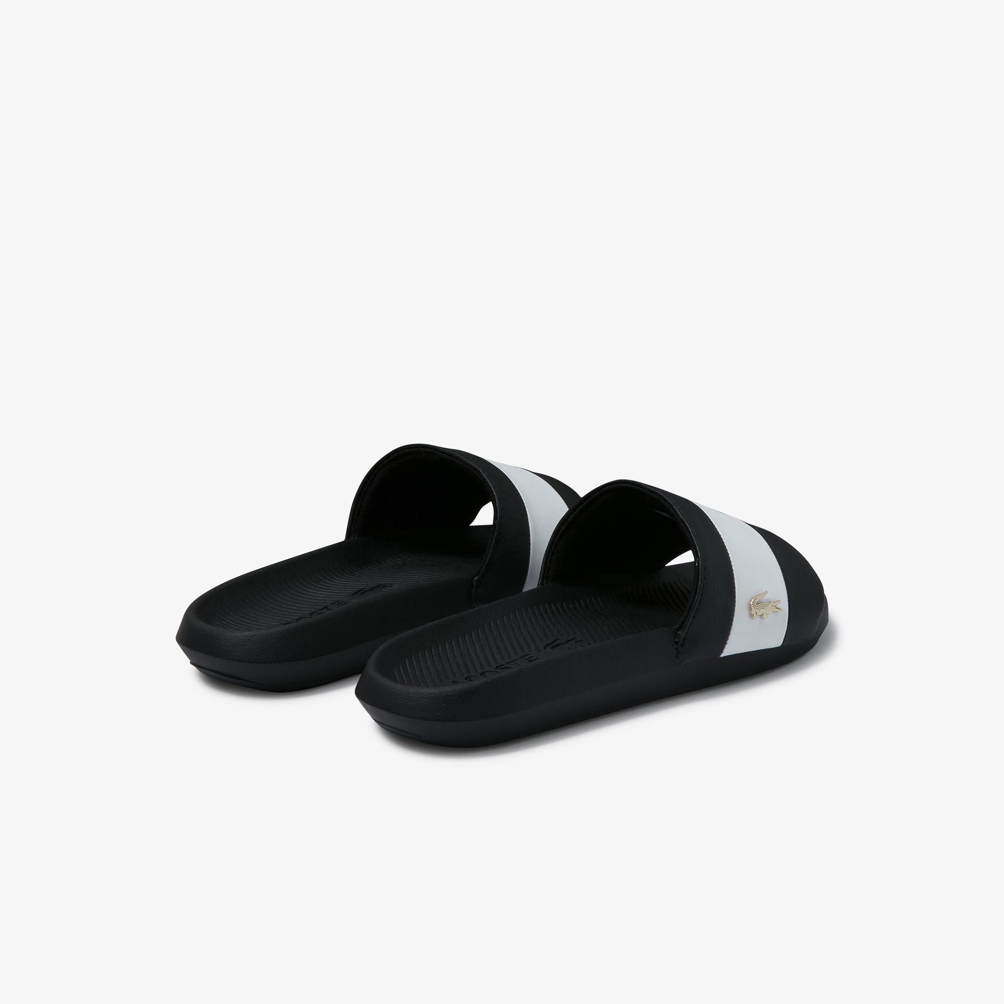 Lacoste Croco Slide 120 3 Us Cfa Kadın Siyah - Beyaz Terlik