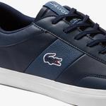 Lacoste Court-Master 120 2 Cma Erkek Lacivert - Beyaz Deri Casual Ayakkabı