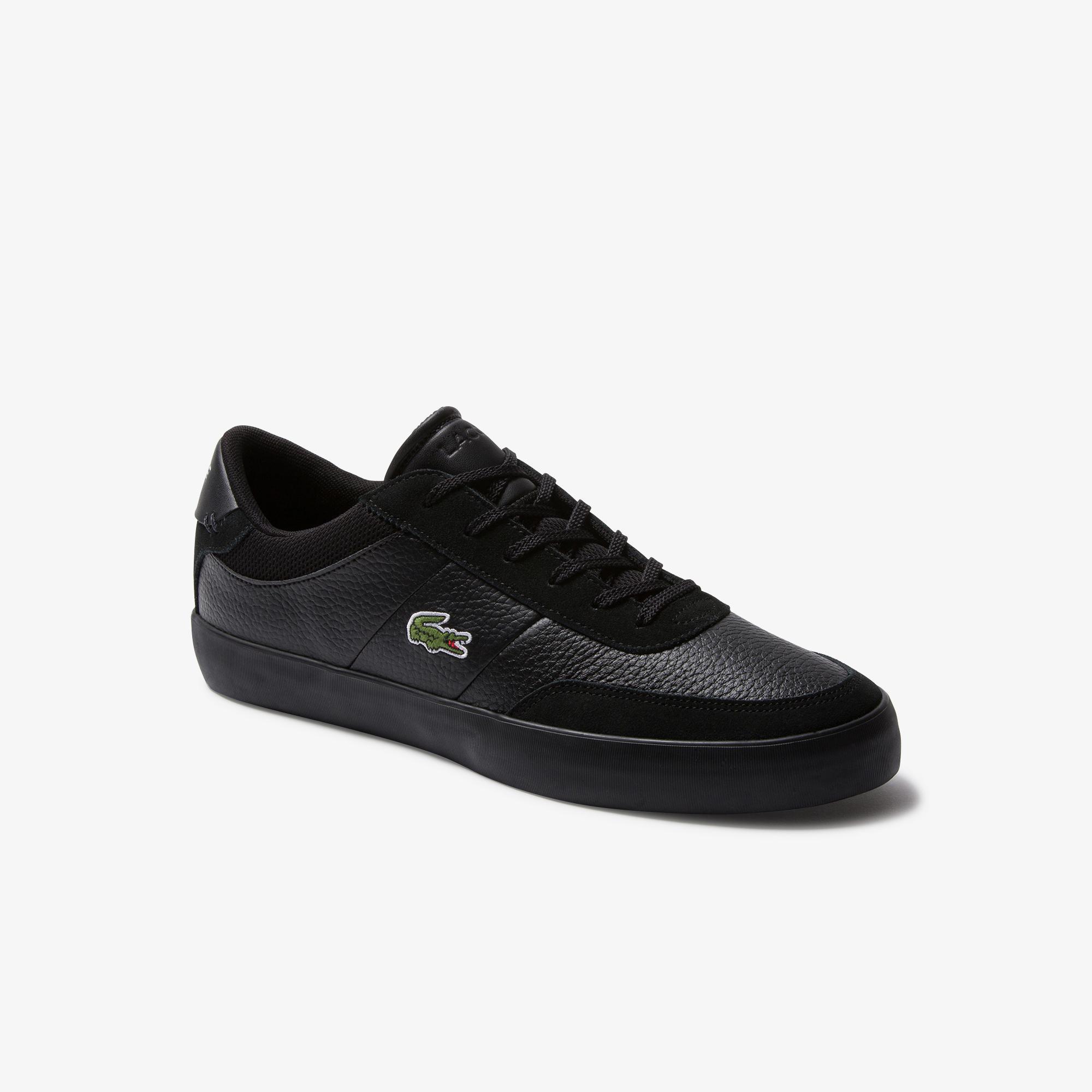 Lacoste Court-Master 120 4 Cma Erkek Siyah Deri Casual Ayakkabı