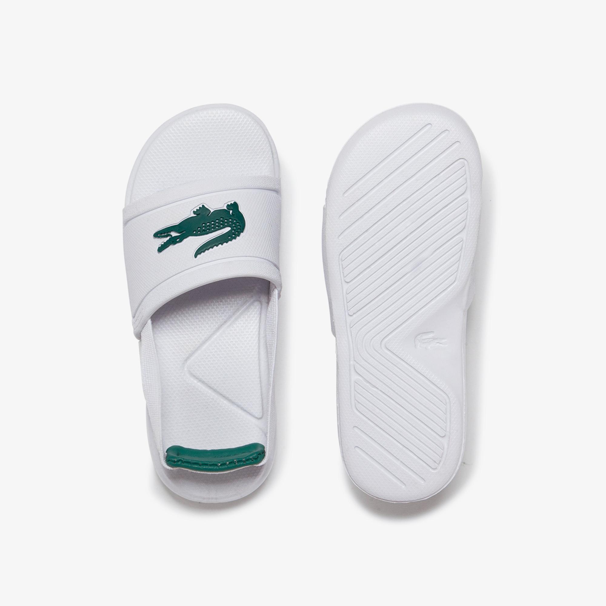 Lacoste L.30 Slide 120 1 Cui Çocuk Beyaz - Yeşil Sandalet